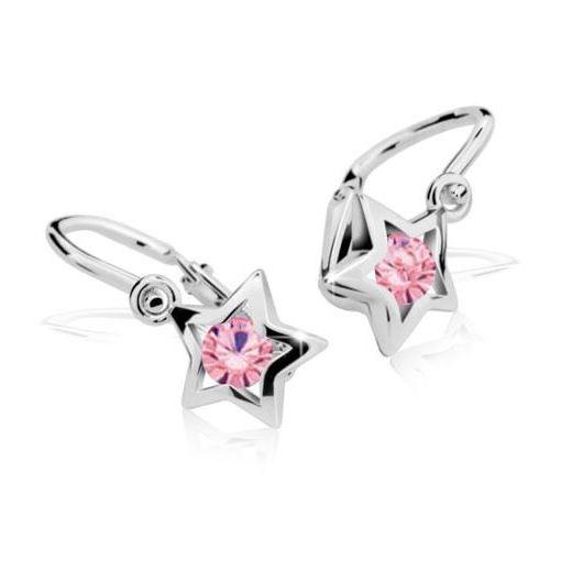 Cutie Jewellery Dětské naušnice Cutie C1942-B Pink - hvězdičky