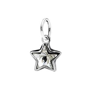 Dětský stříbrný přívěsek Swarovski® elements - čirá hvězdička