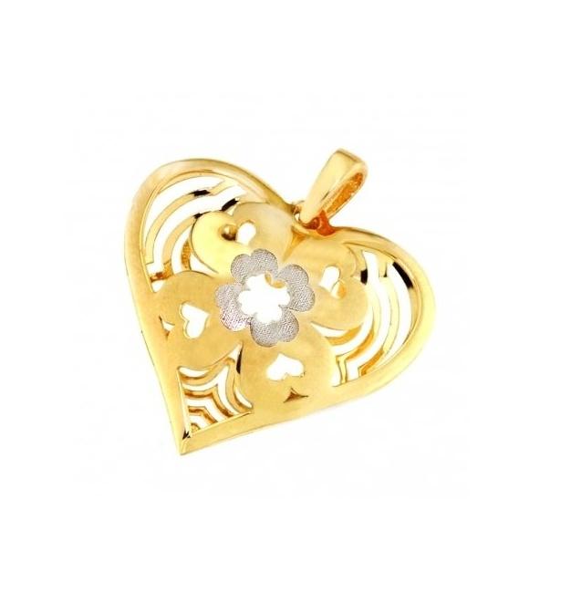 Zlaté srdíčko, žluté a bílé zlato