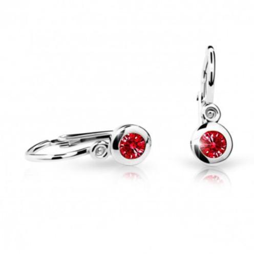 Cutie Jewellery Dětské naušnice Cutie C1537-B Ruby Dark