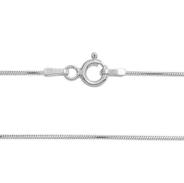 Šperky4U Stříbrný řetízek had 38 cm x 0,9 mm