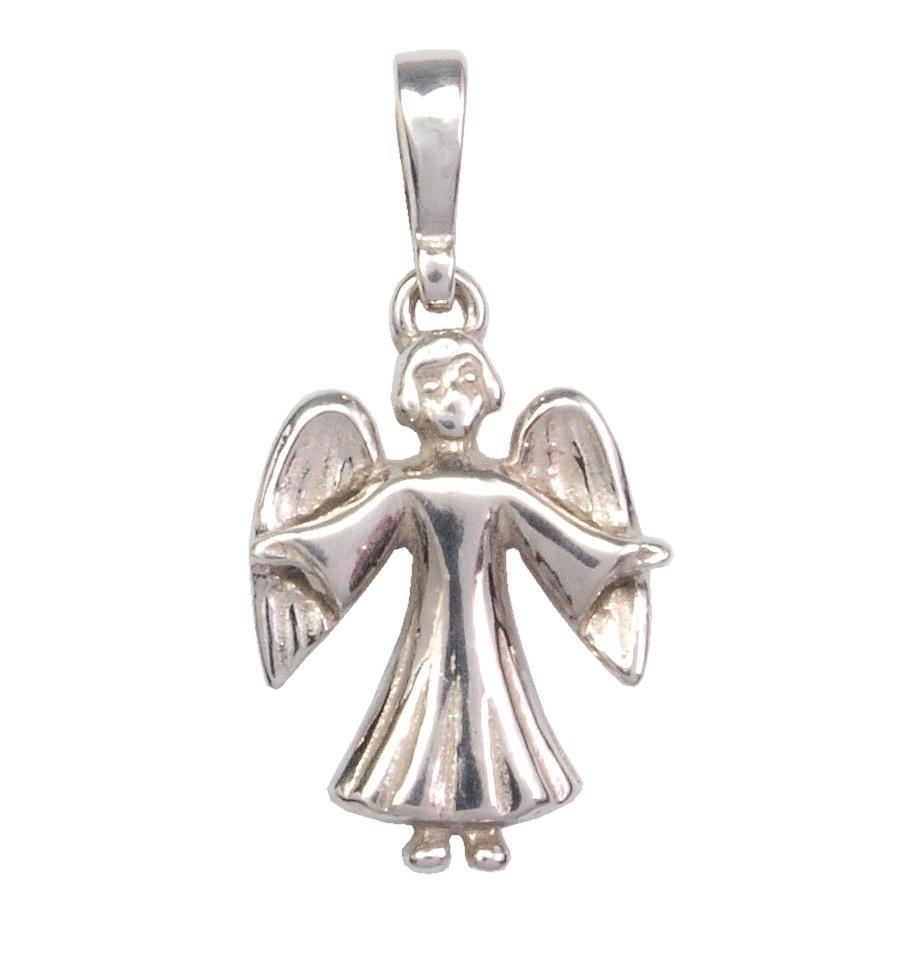 Dětský stříbrný přívěsek - andílek