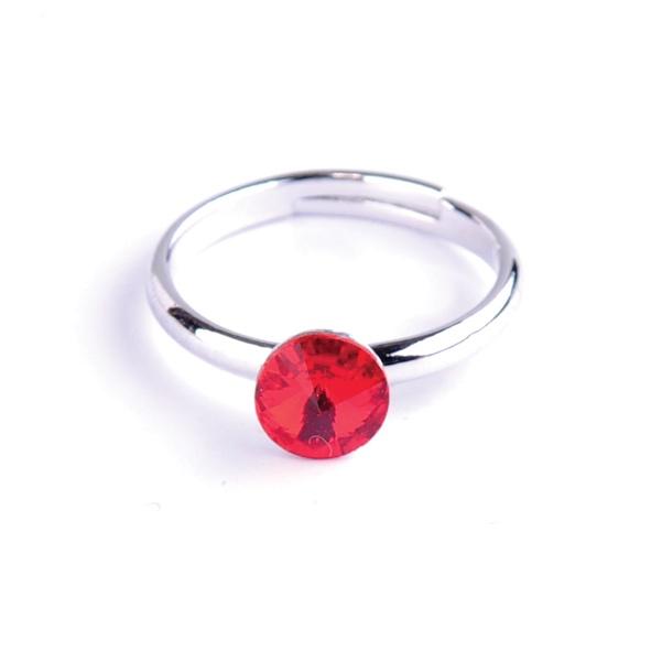 Dětský prsten Swarovski® crystals - červený 6 mm