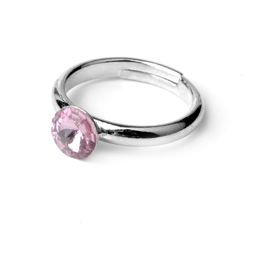 Dětský prsten Swarovski® crystals Rivoli - fialový 6 mm