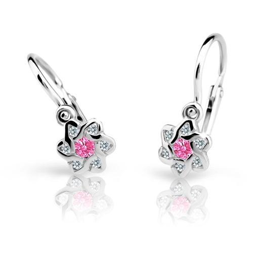 Cutie Jewellery Dětské naušnice Cutie C2149-B Pink - kytičky