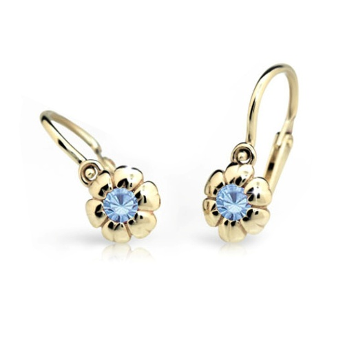 Cutie Jewellery Dětské naušnice Cutie C2151-Z Arctic Blue - kytičky
