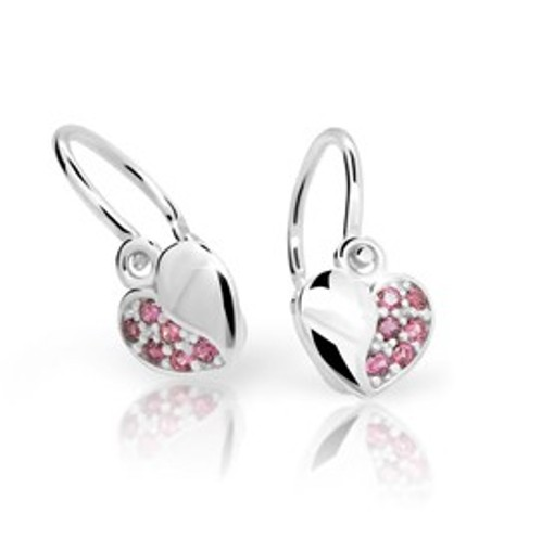 Cutie Jewellery Dětské naušnice Cutie C2160-B Pink - srdíčka