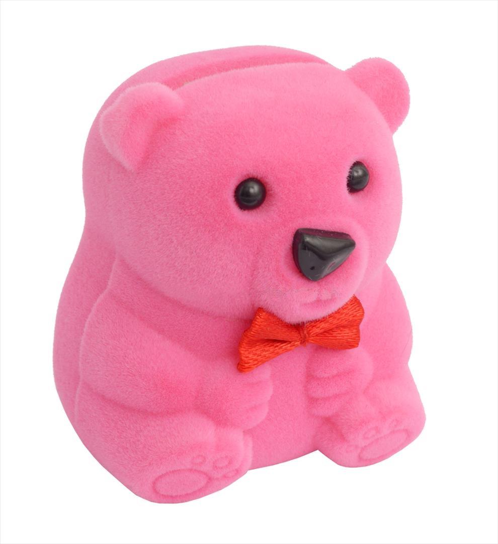 Dárková krabička na dětské šperky - růžový medvídek
