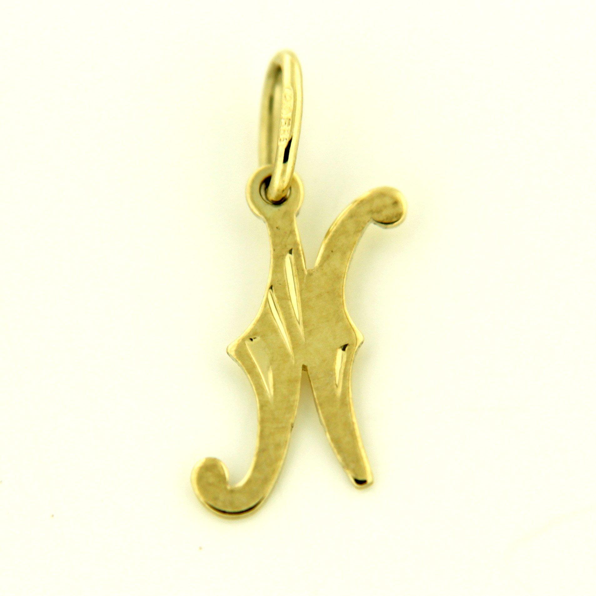 Zlaté přívěsky písmenka A - Z Písmeno: N