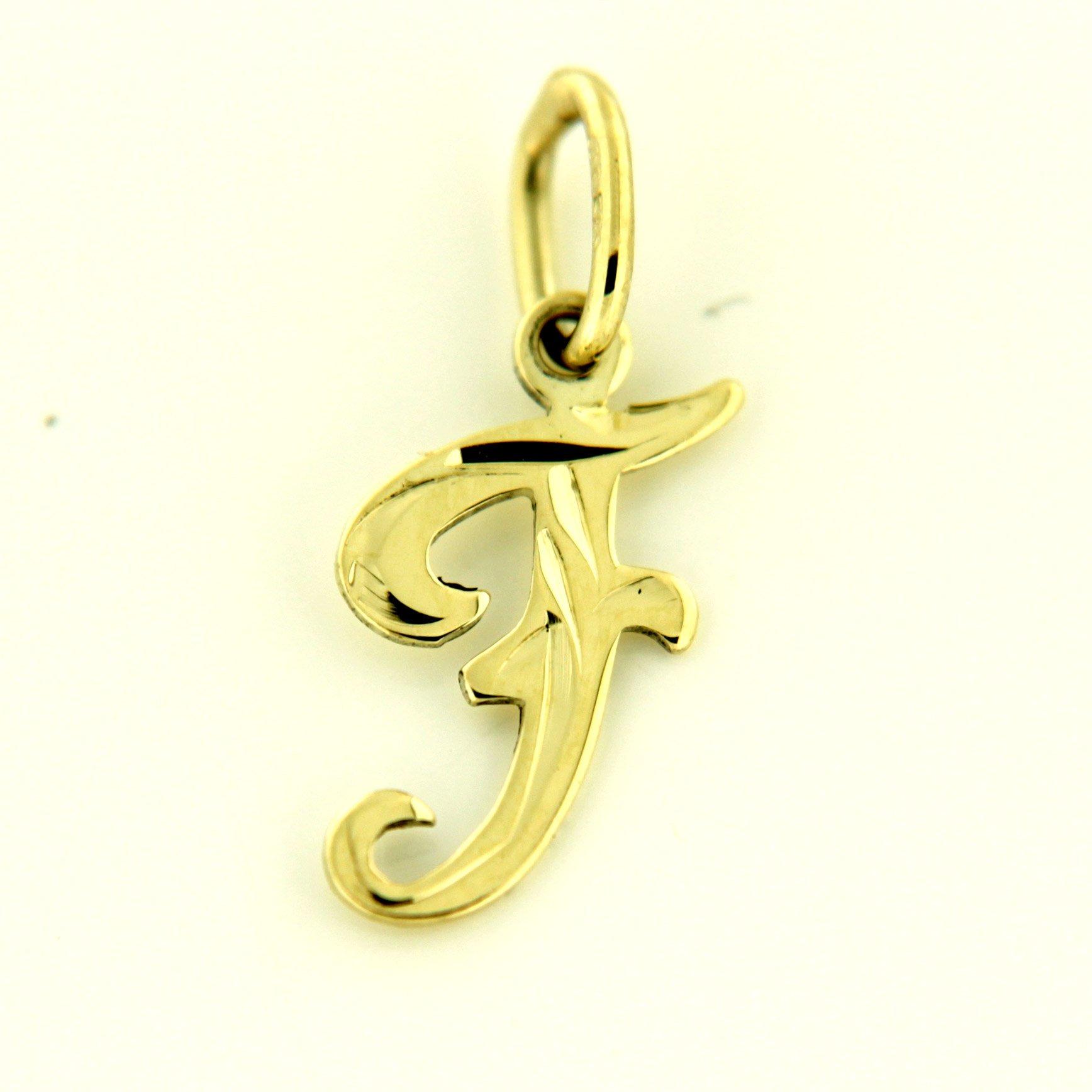 Zlaté přívěsky písmenka A - Z Písmeno: F