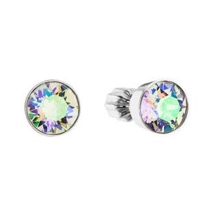 Stříbrné náušnice - kolečka krystaly Swarovski Paradise Shine