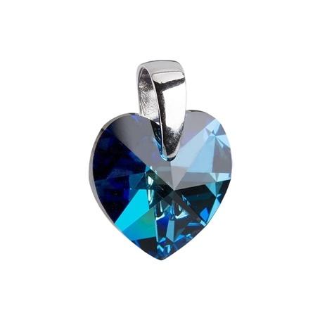 Stříbrný přívěsek Swarovski® elements - tmavě modré srdíčko