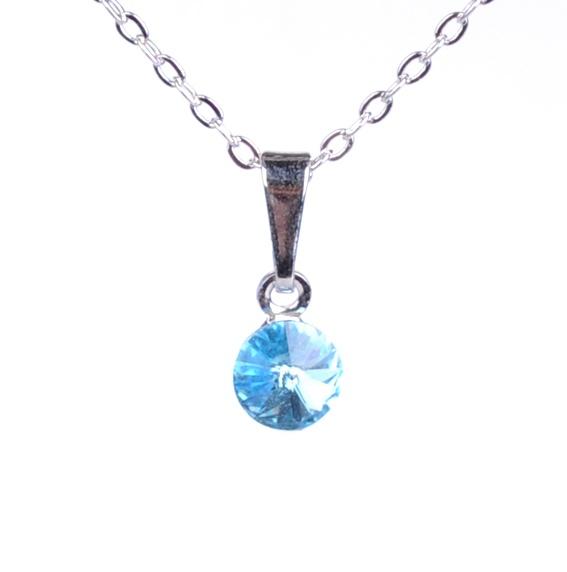 Dětský náhrdelník s krystaly Swarovski - modré kolečko
