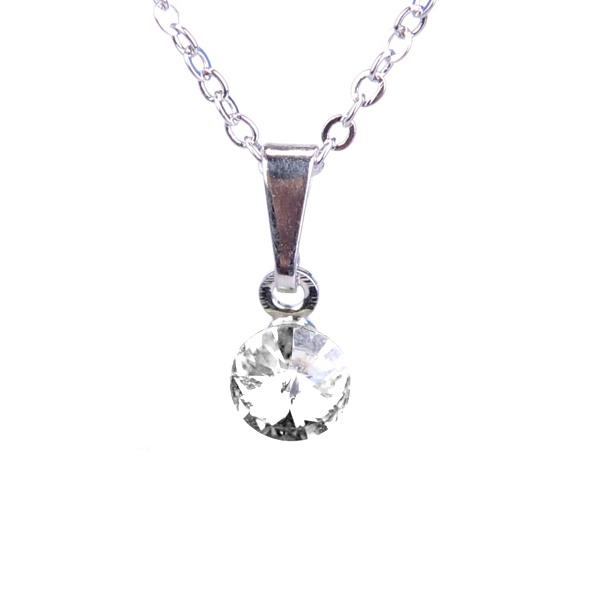 Dětský náhrdelník s krystaly Swarovski - čiré kolečko