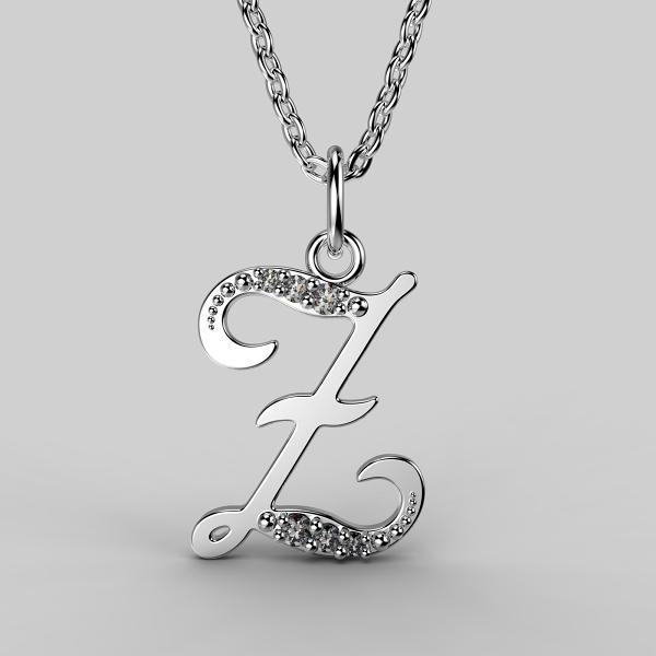Dětské přívěsky z bílého zlata se zirkony - písmenka Písmeno: Písmeno Z