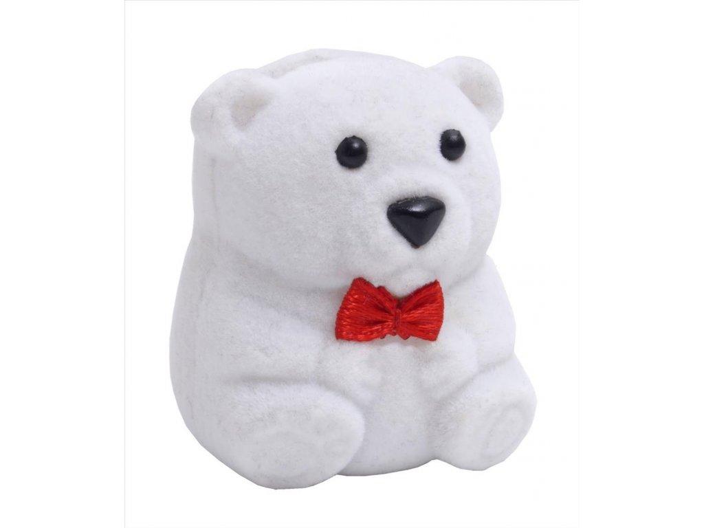 Dárková krabička na dětské šperky - bílý medvídek
