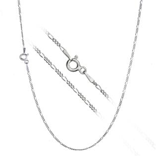 Stříbrný řetízek figaro 42 cm