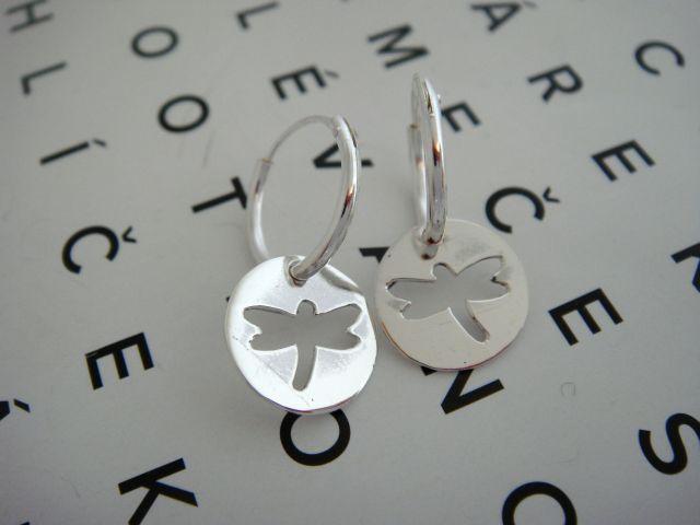 Stříbro.eu Stříbrné kroužky s vážkou