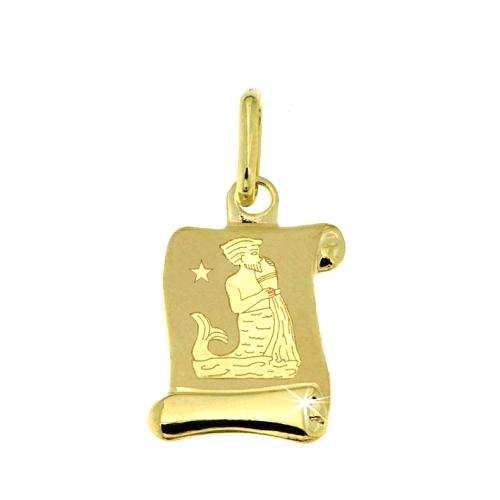 Zlatý přívěsek - znamení Vodnář