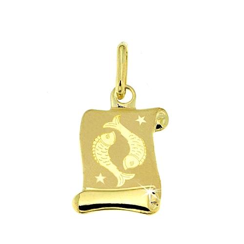 Zlatý přívěsek - znamení Ryby