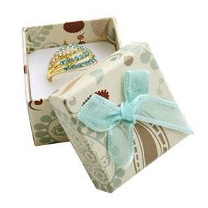 Dárková krabička papírová s modrou mašlí