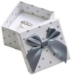 Dárková krabička papírová s puntíky