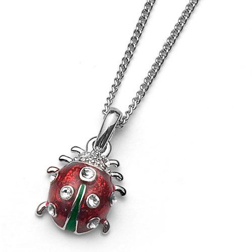 Dětský náhrdelník s krystaly Swarovski Oliver Weber Ladybug 9100