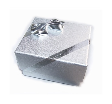 Dárková krabička papírová stříbrná