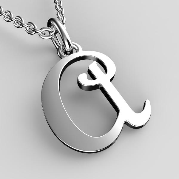 Přívěsky z bílého zlata - písmenka A-Z Písmeno: A