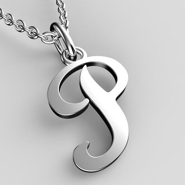 Přívěsky z bílého zlata - písmenka A-Z Písmeno: P
