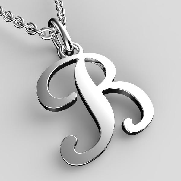 Přívěsky z bílého zlata - písmenka A-Z Písmeno: B
