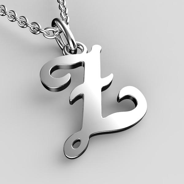 Přívěsky z bílého zlata - písmenka A-Z Písmeno: Z