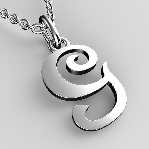 Přívěsky z bílého zlata - písmenka A-Z Písmeno: G