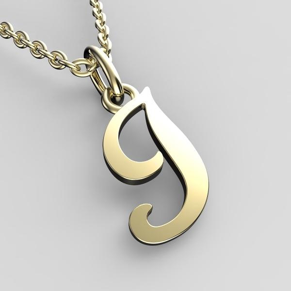 Přívěsky ze žlutého zlata - písmenka A-Z Písmeno: I