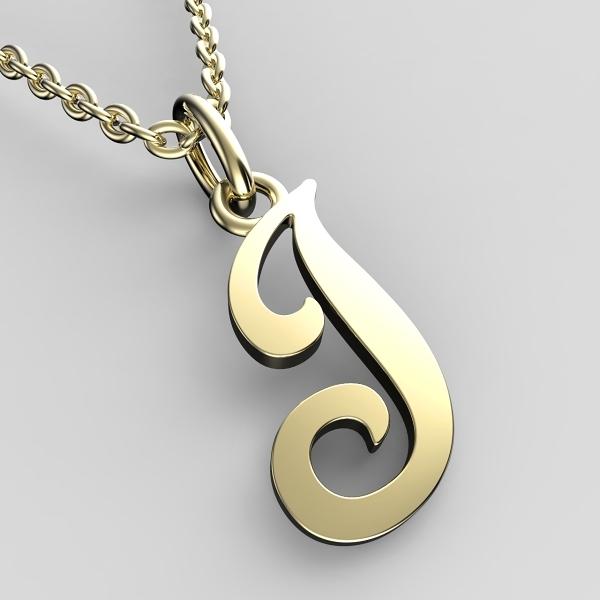 Přívěsky ze žlutého zlata - písmenka A-Z Písmeno: J