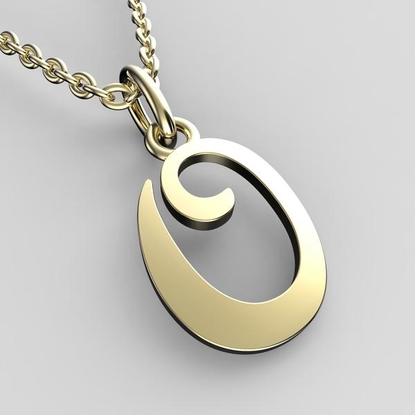 Přívěsky ze žlutého zlata - písmenka A-Z Písmeno: O