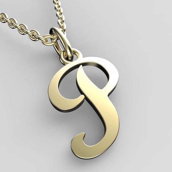Přívěsky ze žlutého zlata - písmenka A-Z Písmeno: P
