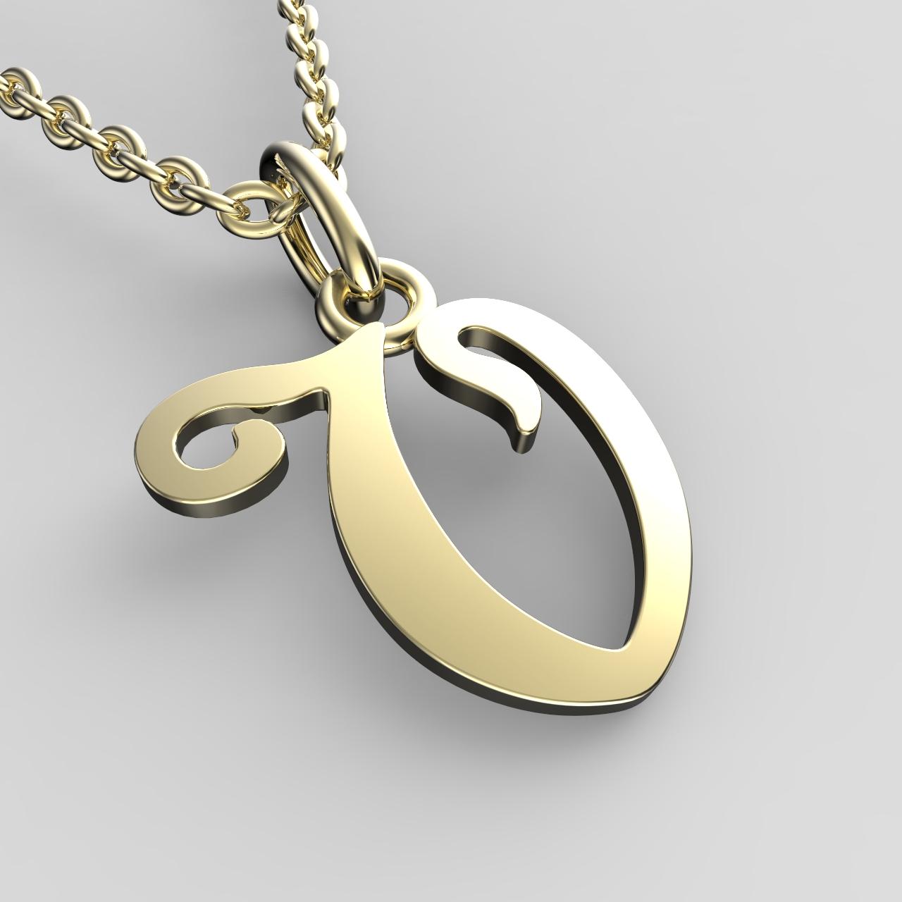 Přívěsky ze žlutého zlata - písmenka A-Z Písmeno: V