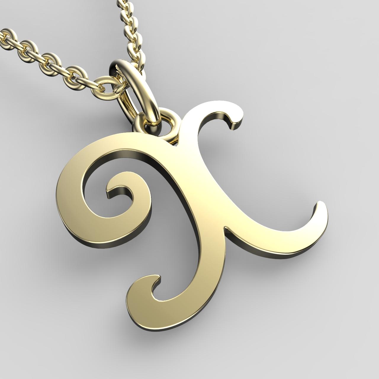 Přívěsky ze žlutého zlata - písmenka A-Z Písmeno: X