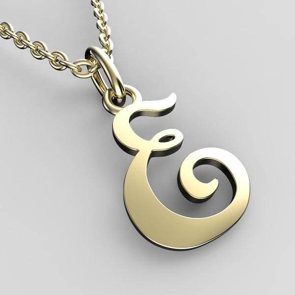Přívěsky ze žlutého zlata - písmenka A-Z Písmeno: E