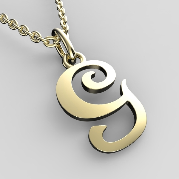 Přívěsky ze žlutého zlata - písmenka A-Z Písmeno: G