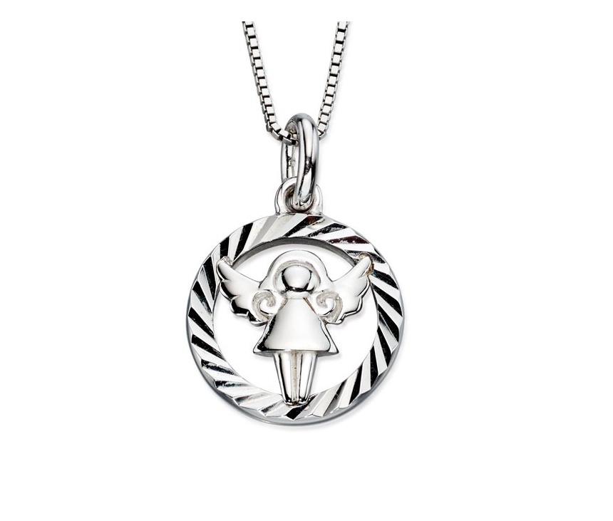 Stříbrný dětský náhrdelník s andílkem