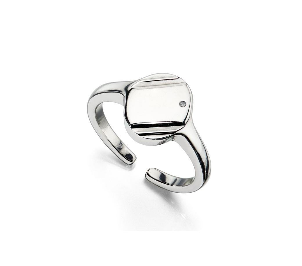 Stříbrný prsten pro chlapce, s diamantem