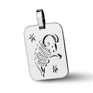 Stříbrný přívěsek - znamení Beran Přívěsek: bez rytiny