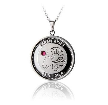 Stříbrný medailonek - znamení Kozoroh