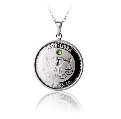 Stříbrný medailonek - znamení Váhy