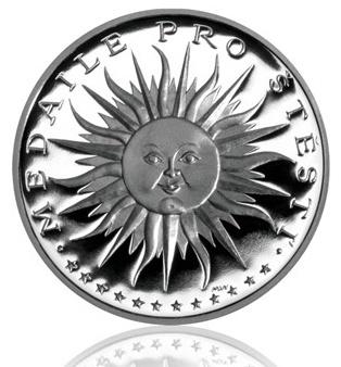 Stříbrná medaile - sluníčko pro štěstí