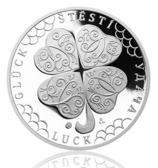 Stříbrná medaile - čtyřlístek pro štěstí