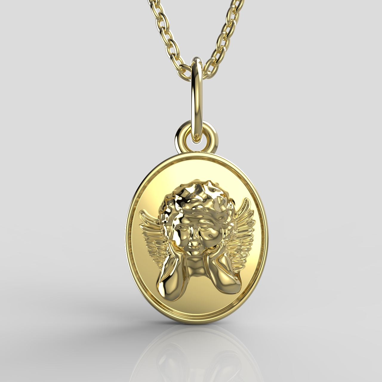 Malý zlatý medailonek - andílek