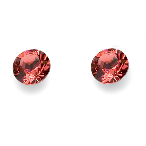 Náušnice Oliver Weber s krystaly Swarovski 3033-542 - kolečka červená